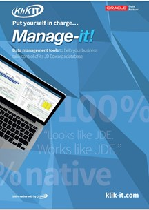 Manage-it! Data Management tools to see inside your JD Edwards database