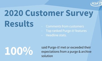 Purge-it! Customer Survey Results