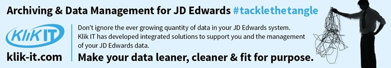 Klik IT - Archiving & Data Management for JD Edwards. Make your data learner, cleaner & fit for purpose.